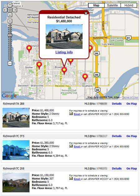 Google Map Template