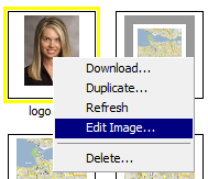 Image Editor access from context menu