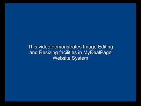 Image Editor and Resizing Video